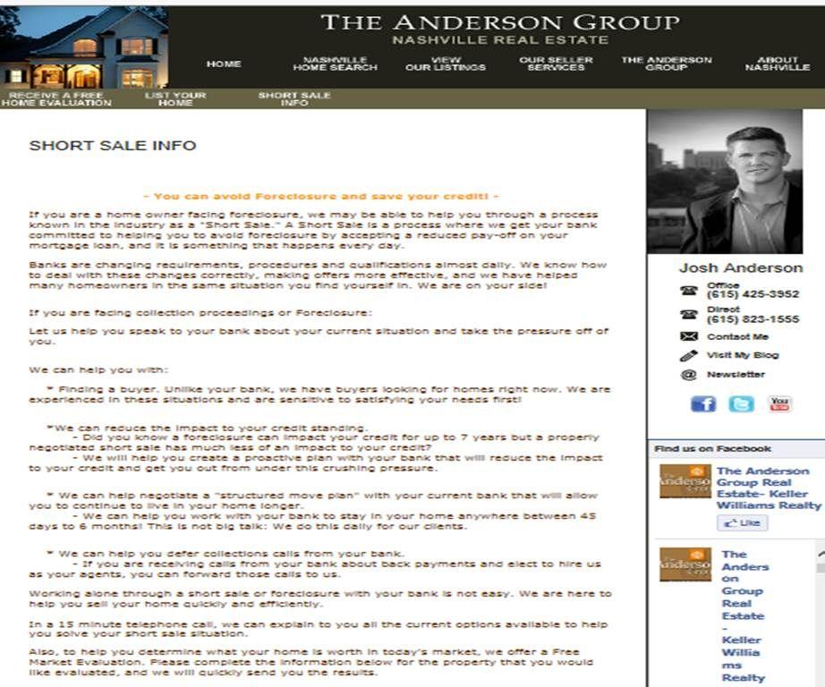 (Our Seller Services: Short Sale Info)