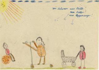 Image detail for -Kinderkunst aus den 50er-Jahren: Die Kinder haben ihre neuen ...