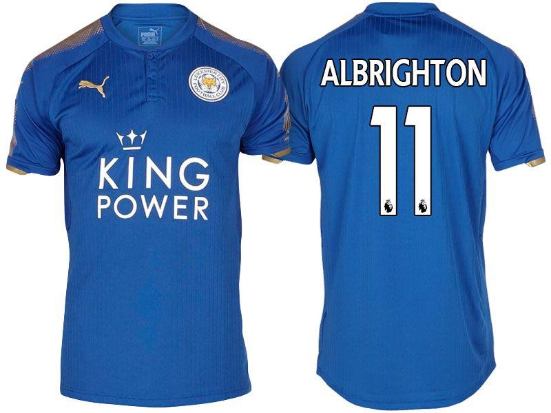 98c9b6e25 Leicester City Jersey marc albrighton Home 17-18 Shirt