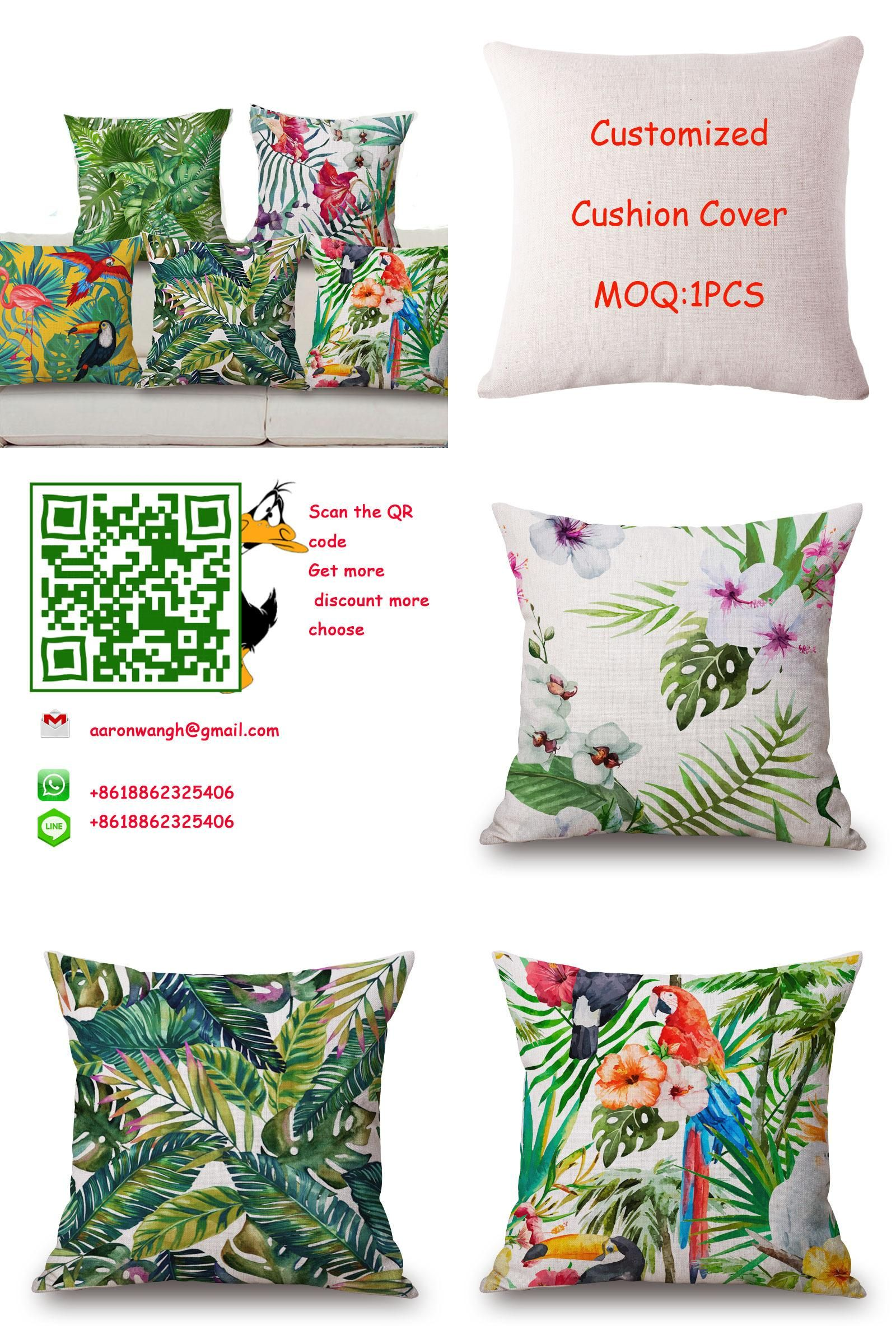 Visit to buy xcm bird plant floral cushion cover fashion high