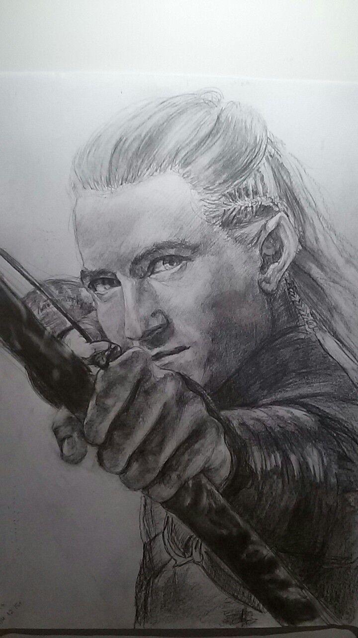 Legolas pencil drawing   Pencil drawings, Drawings, Male ...