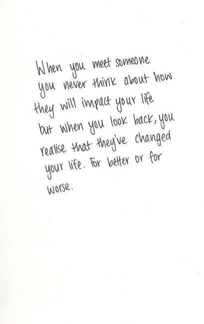 someone who changed your life
