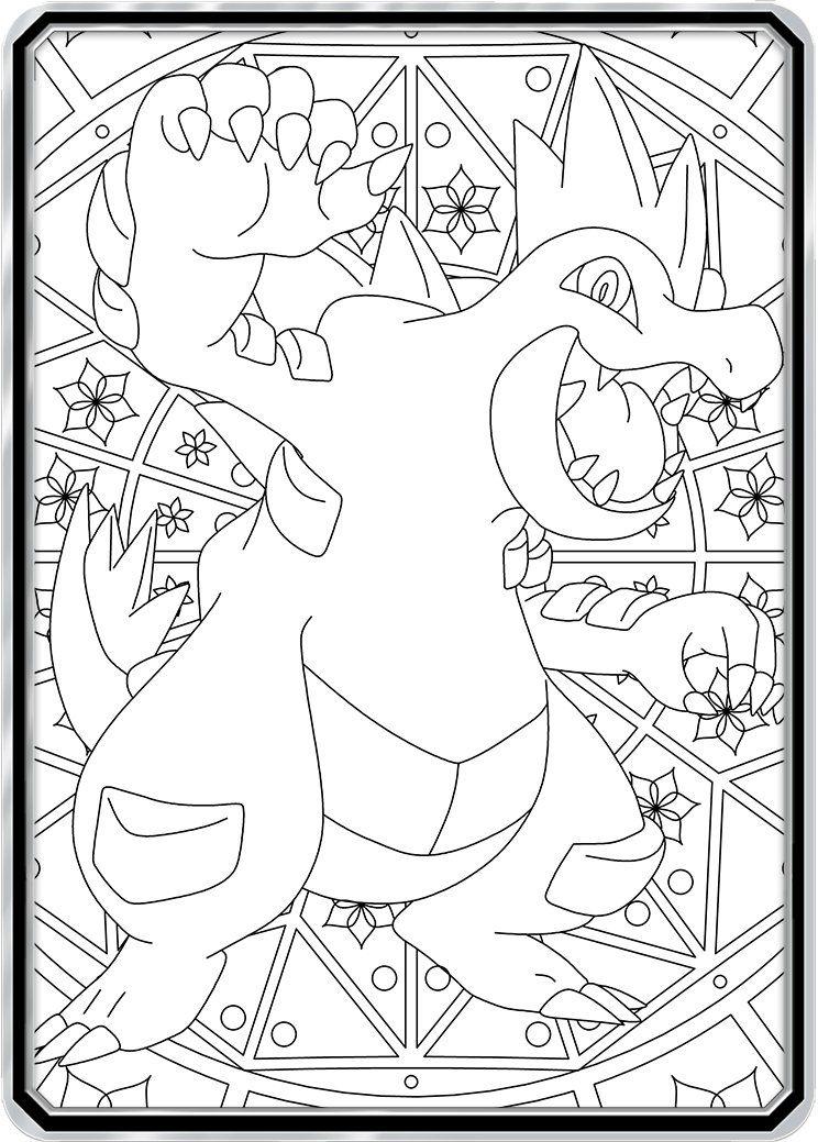 Color Me Feraligatr Custom Pokemon Coloring Card Pokemon Coloring Color Card Coloring Pages