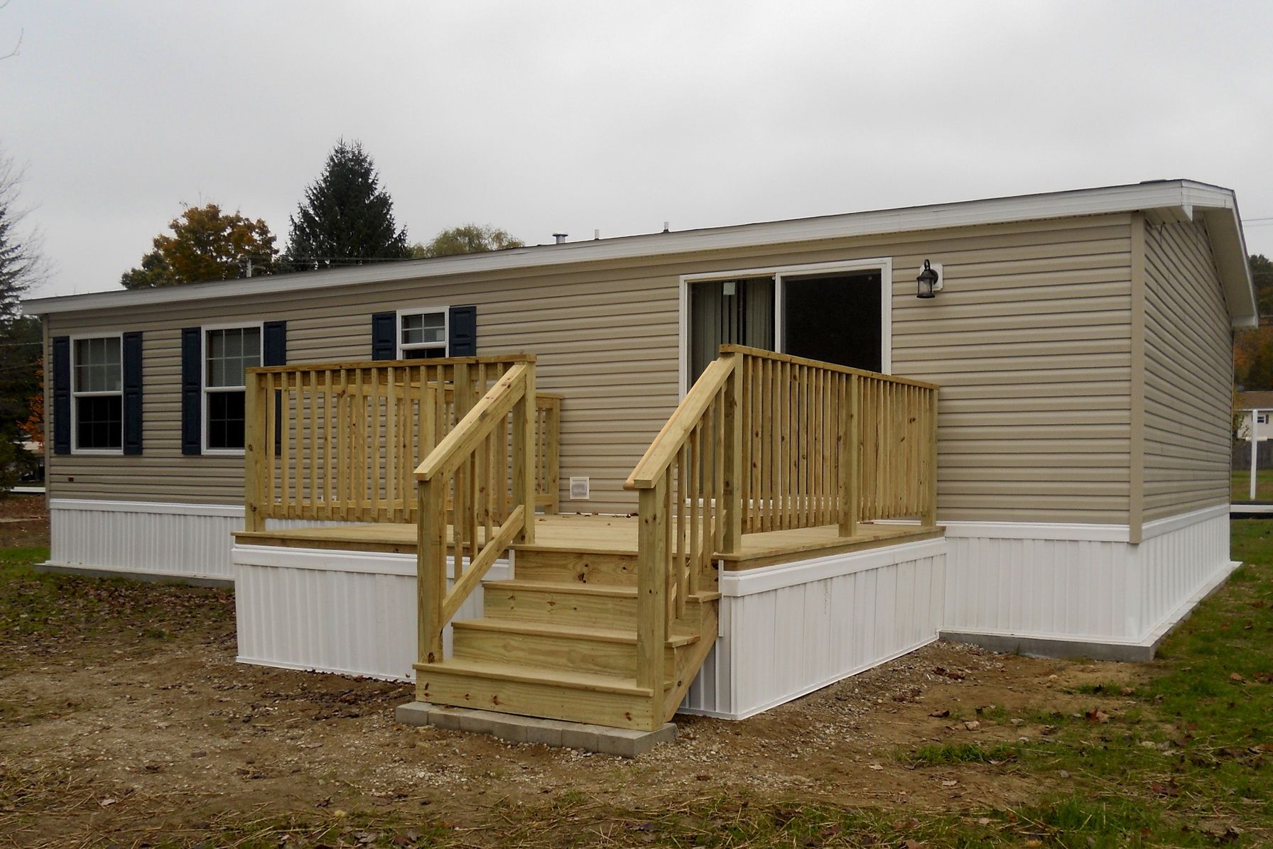 Back Decks For Mobile Homes Home Design Ideas Mobile Home