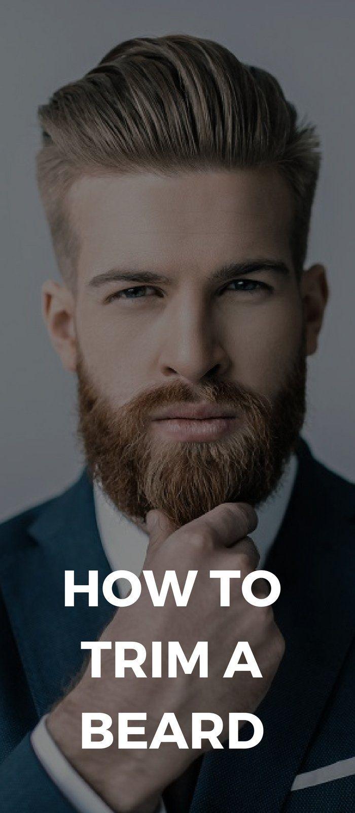 How To Trim A Beard | Beard shapes, Beard grooming styles ...