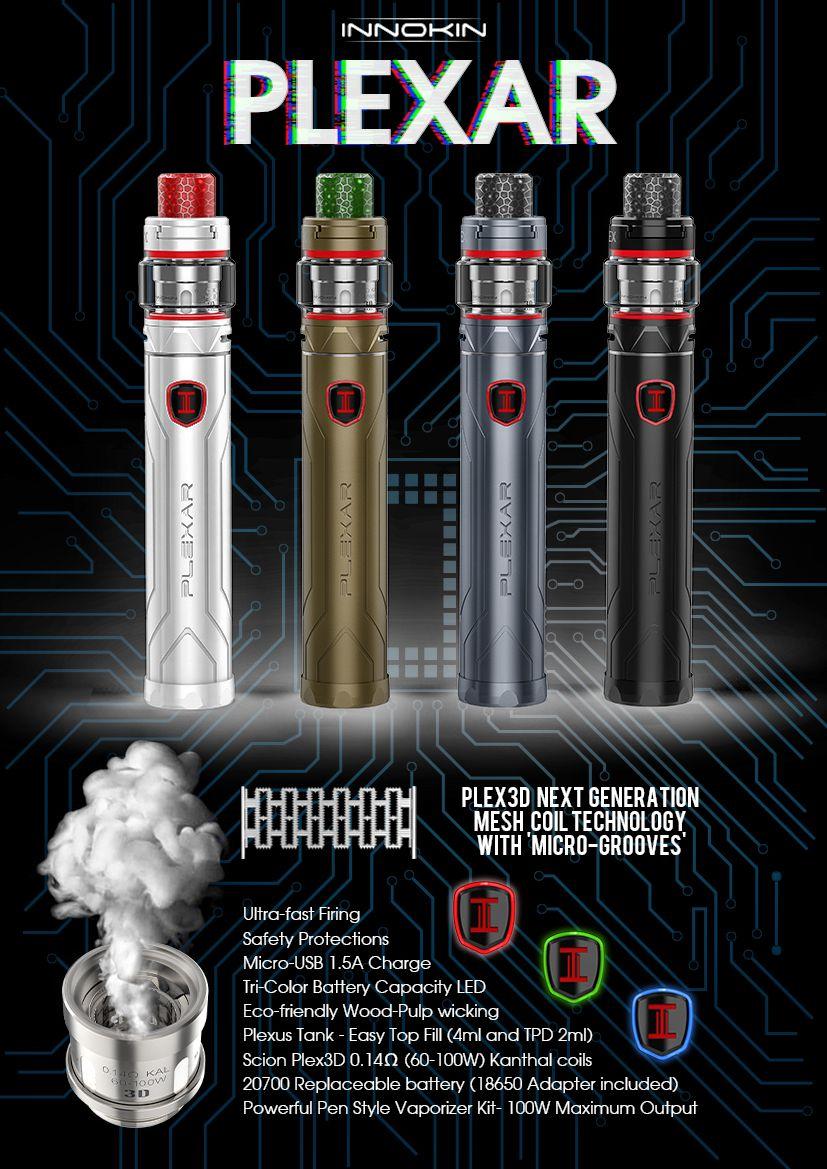 Plexar & Plex Tank Kit (With images) Vape, Pen fashion