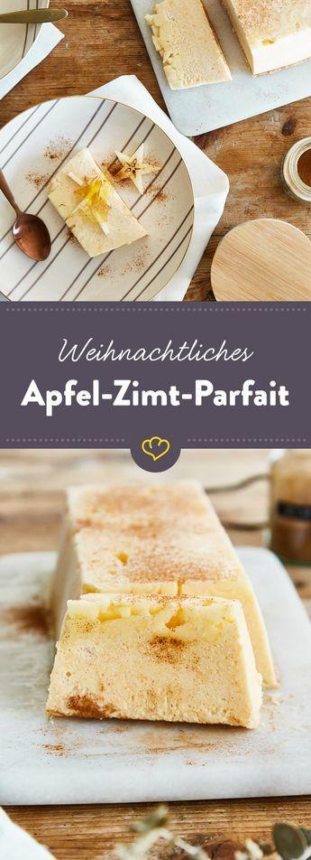 Weihnachtsdessert: Apfel-Zimt-Parfait
