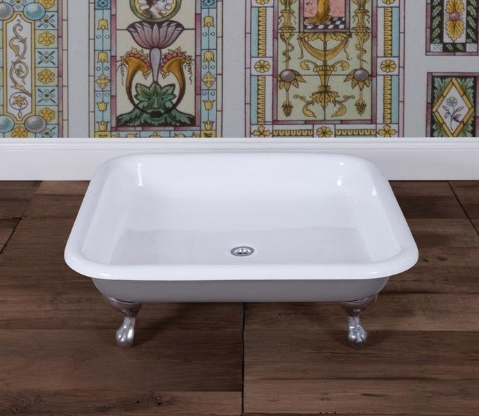 Bentley Cast Iron Shower Tray With Chrome Feet With Images