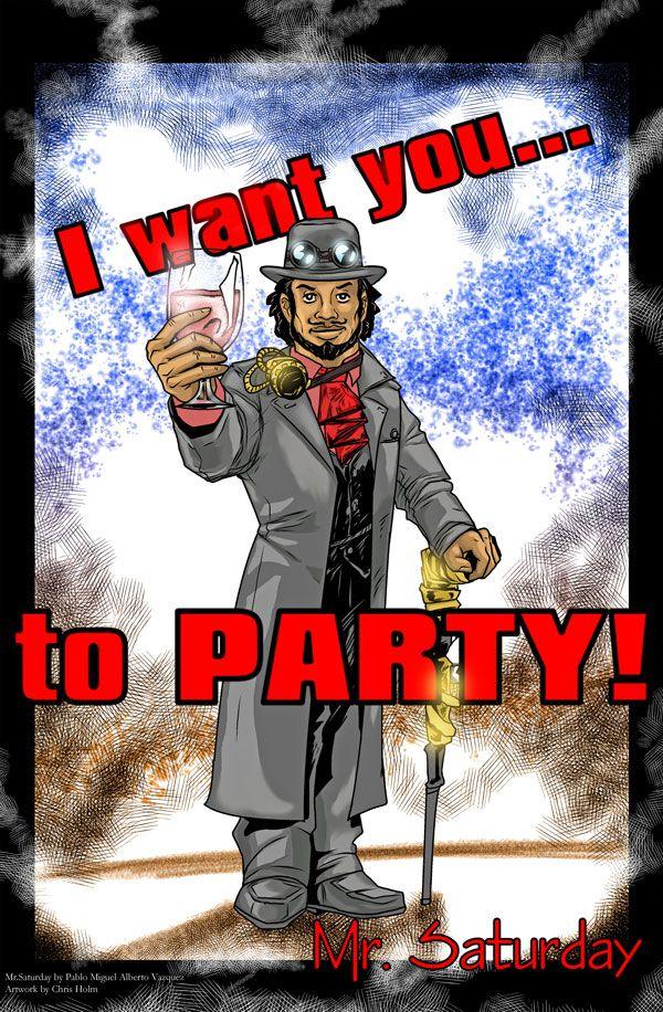 Mr. Saturday poster by ChrisHolm.deviantart.com on @DeviantArt