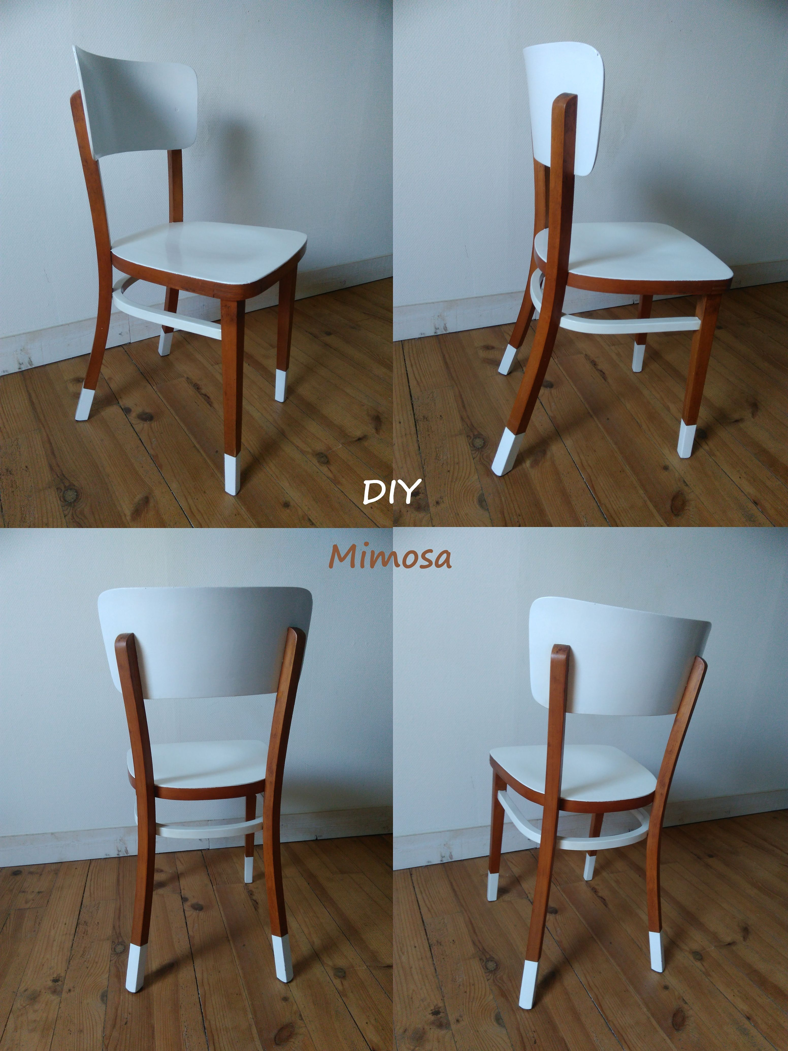 Chaise Style Bistro Vintage Relooke Repeinte Relooking Meuble DIY