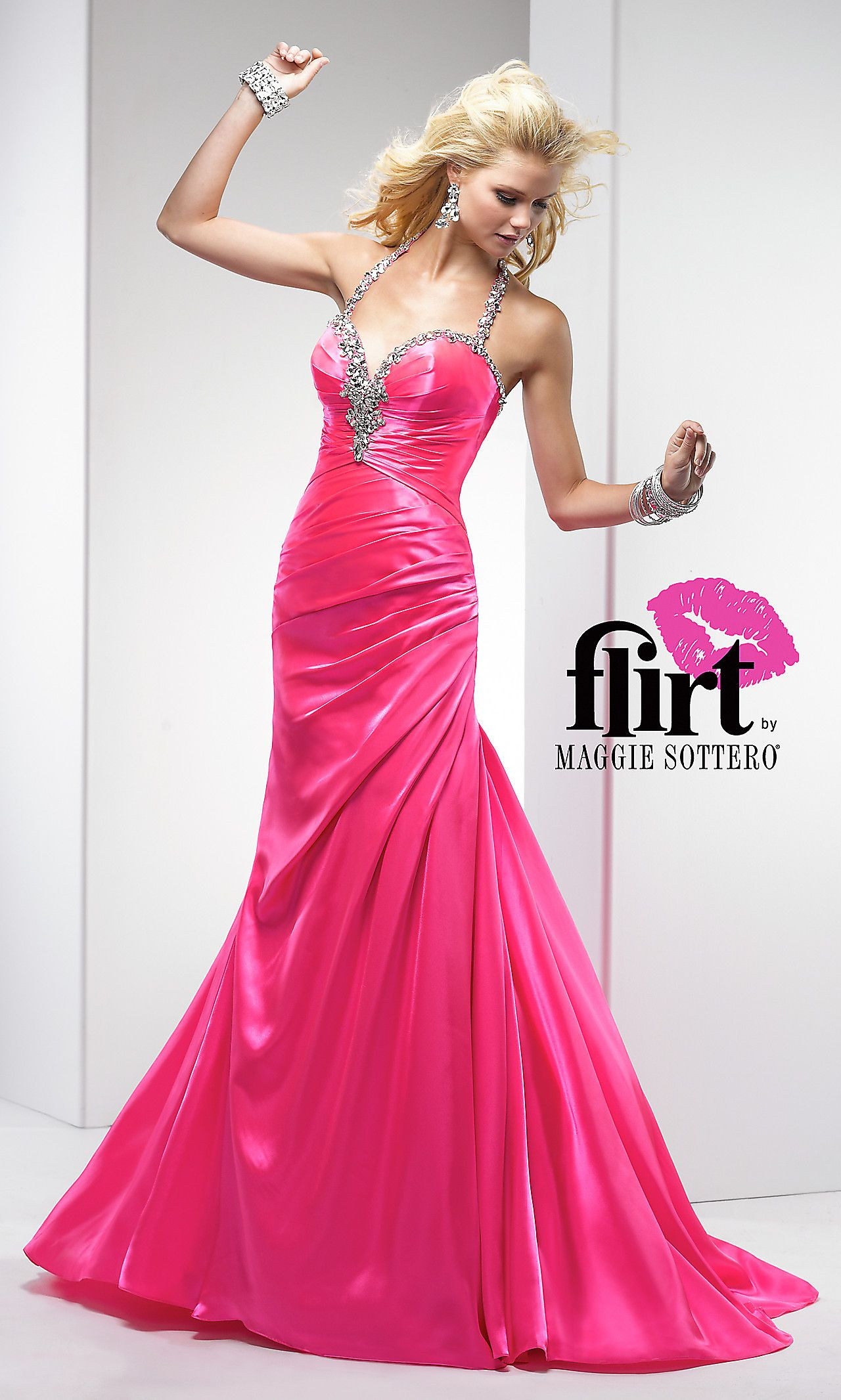 Floor Length Halter Top Prom Dress FL-P4684 | fashion | Pinterest
