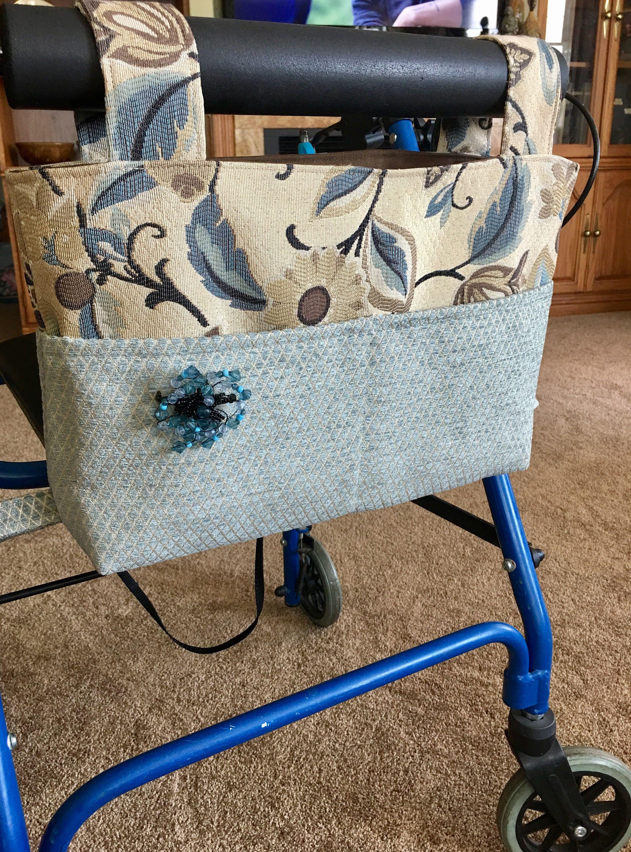 Elegant walker bag, Rollator, mobility accessory, gift for grandma ...