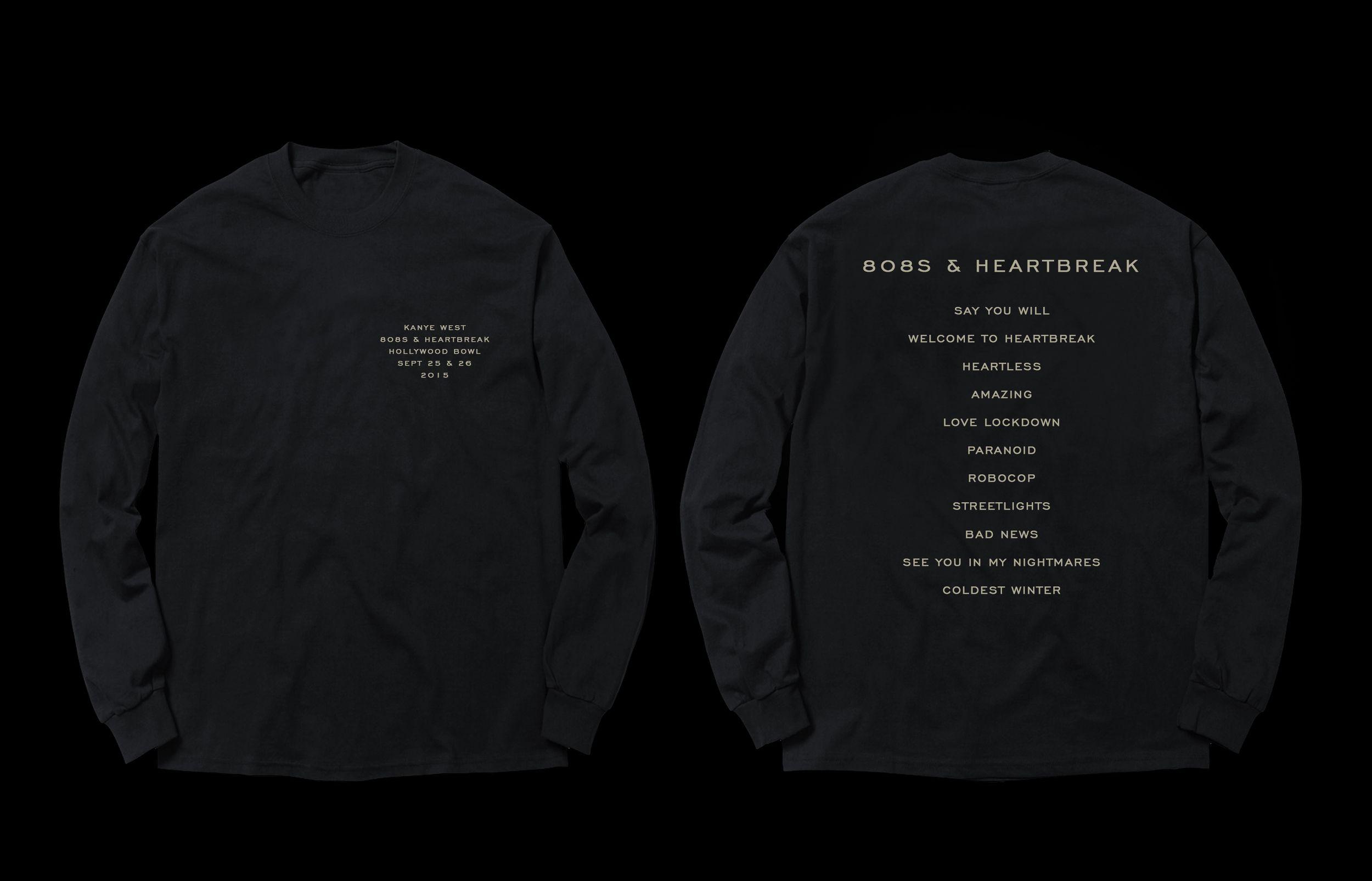 808s Amp Hearbreak Hollywood Bowl Merch Donda Chief Creative Director Kanye West Donda Creative Direc 808s Heartbreak Heartbreak Sweater Hoodie