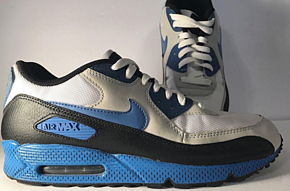 ccd138e902 Nike Air Max 90 Size 11 2009 Varsity Blue, Neutral Grey, & White 325018-144  #Nike #AthleticSneakers