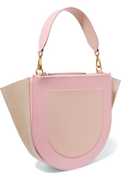 Medium Bag Block Wandler Color Hortensia White Leather Shoulder - Color-hortensia