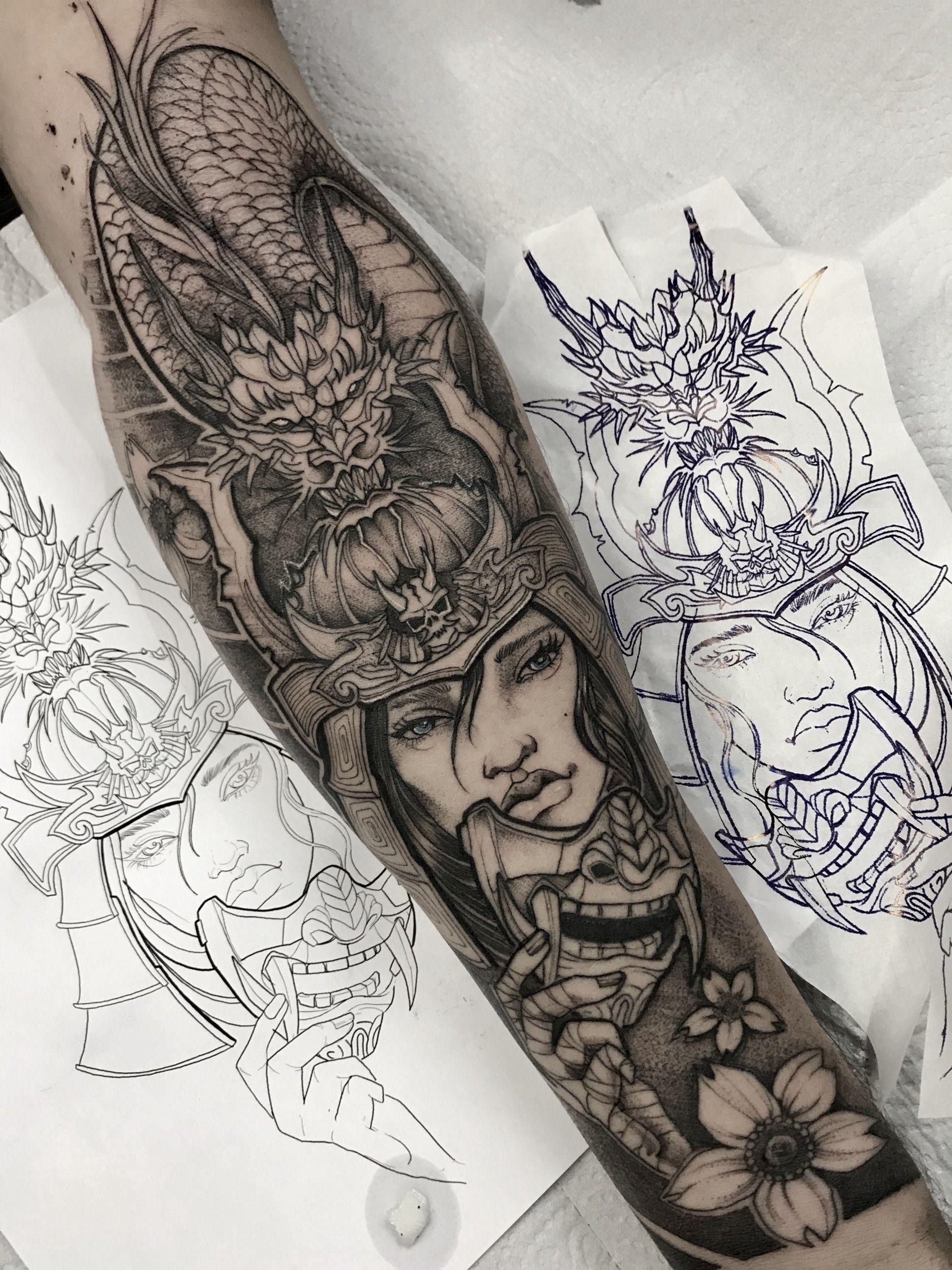Inspiração de tatuagem em Blackwork? Aqui tem!