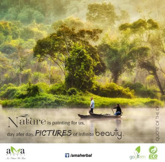 Nature is painting for us,day after day,Pictures of infinite beauty!#Quoteoftheday.Click here:https://www.facebook.com/amaherbal/photos/a.283777945111081.1073741829.274434279378781/492559160899624/?type=1&theater…