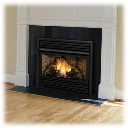 """DFX24PVC 24"""" Vent Free Liquid Propane Fireplace with Random Yellow Flame Deep Ember Bed Glowing ..."""