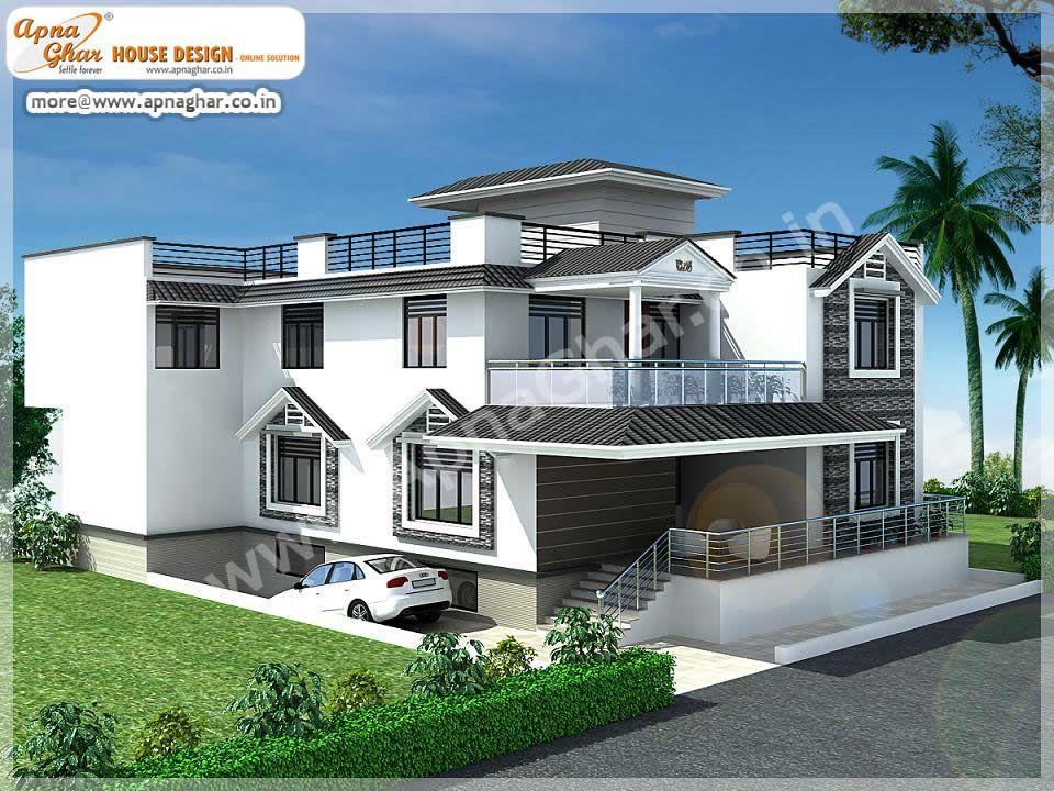 5 bedrooms duplex 2 floors house area 360m2 15m x 24m for Home naksha by architecture