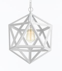 White wrought iron polyhedron pendant mini chandelier lighting pendants chandeliers pendant lighting dress up your home with one of these stunning chandeliers or pendant lights mozeypictures Image collections