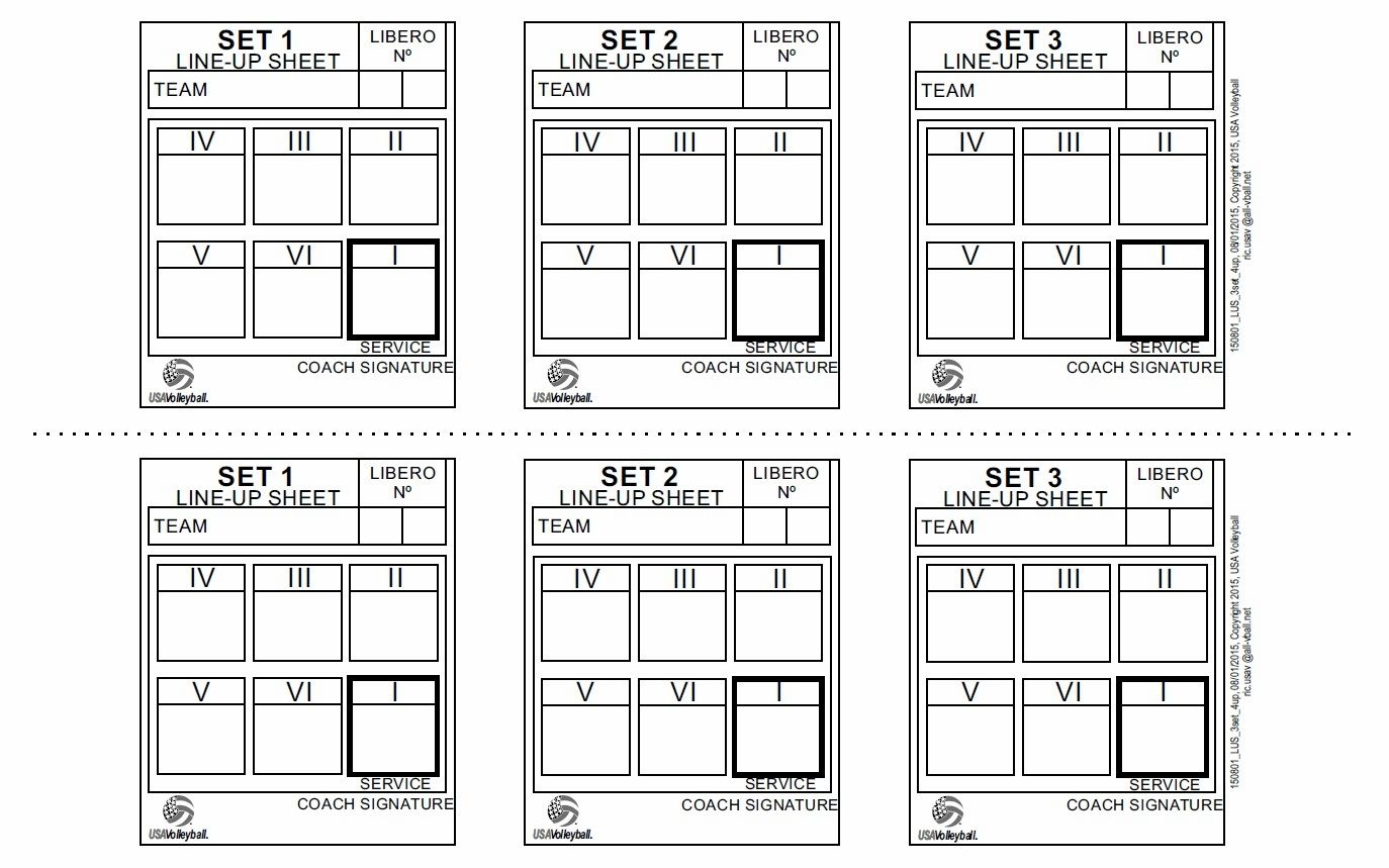 photo about Volleyball Lineup Sheet Printable titled Check out useful resource picture Volleyball Printable labels