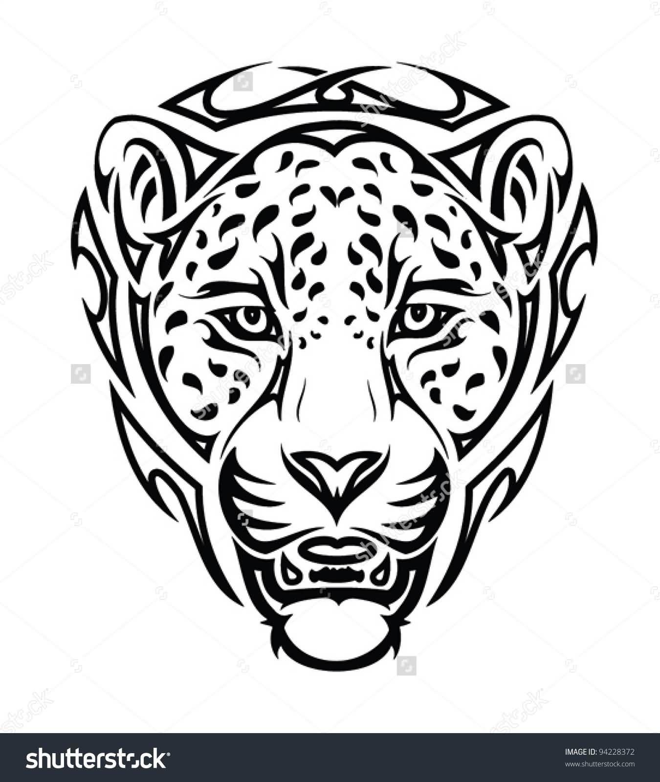 Nice Tribal Jaguar Head Tattoo Design Jaguar Tattoo Tribal Jaguar