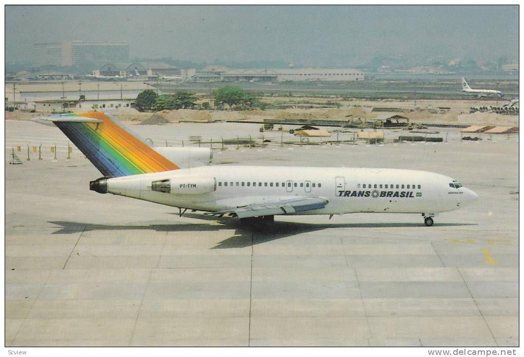 Pt Tym Trans Brasil Boeing 727 27 Airplane Rio De Janeiro