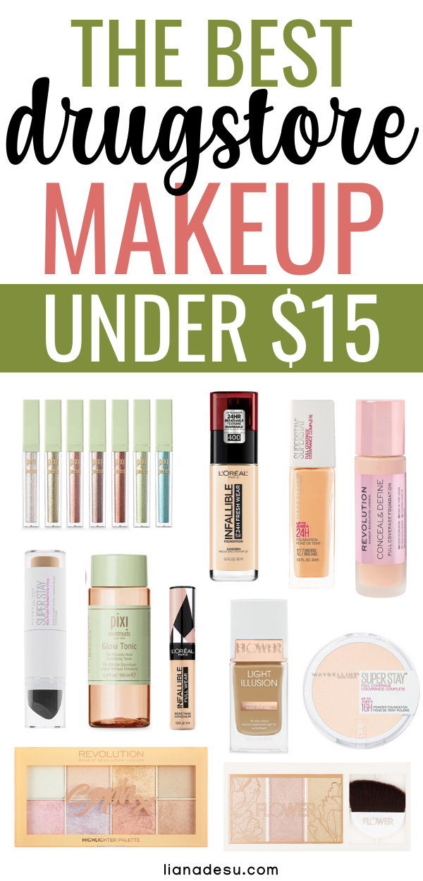 Best Drugstore Makeup Under $15 - All the Must-Have Products You Need! - liana desu