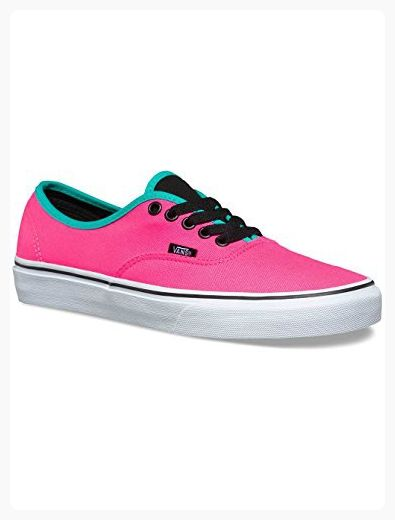 42cebc2dfe25 Vans Unisex Authentic Brite Skate Shoes-Brite Neon Pink Black-8-Women 6.5-Men  ( Partner Link)