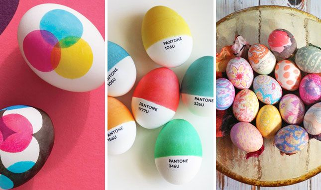 40 oivaltavaa ideaa miten voit koristella pääsiäismunasi. || Genius! 40 Creative Ways to Decorate Easter Eggs via Brit + Co. #easter #eggs #deco #diy #howto #tutorial #dyed #color #colors