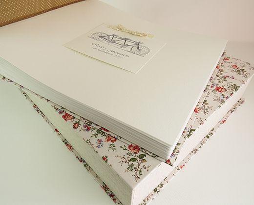 álbum artesanal de boda personalizado encuadernación clásíca
