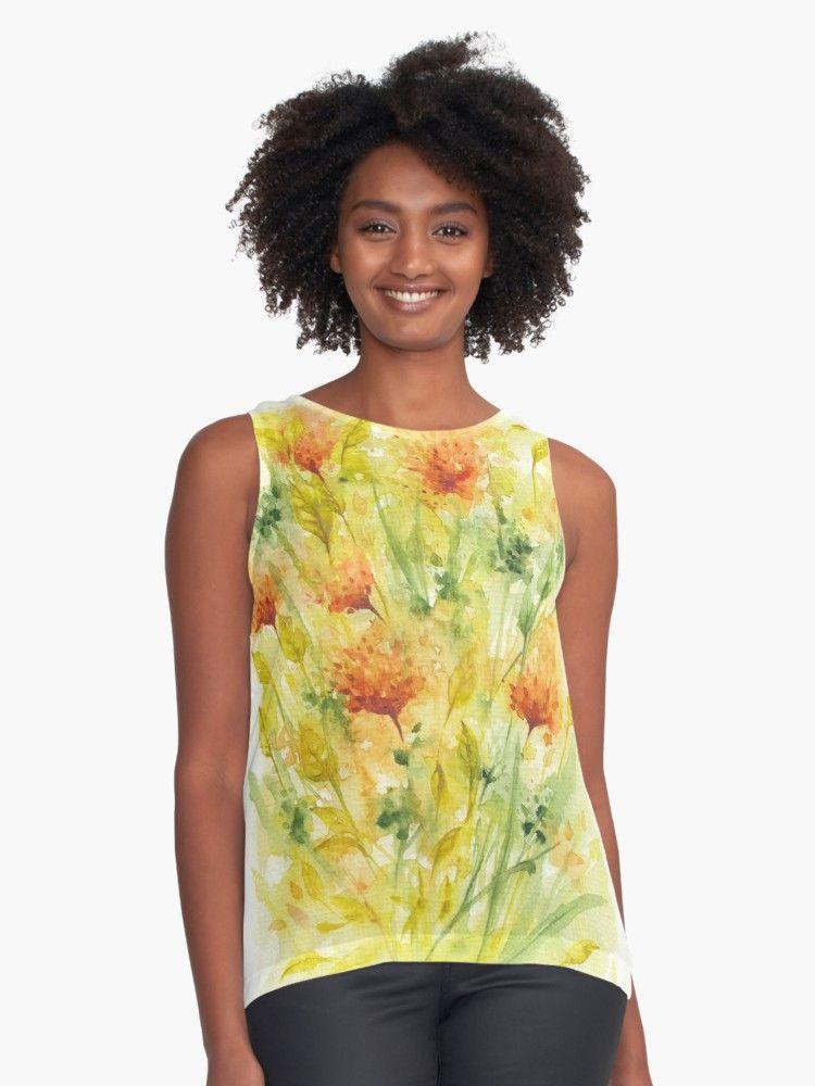 1d7aa2837 Buy  Fiery Flowers Field  by IvaW as a T-Shirt