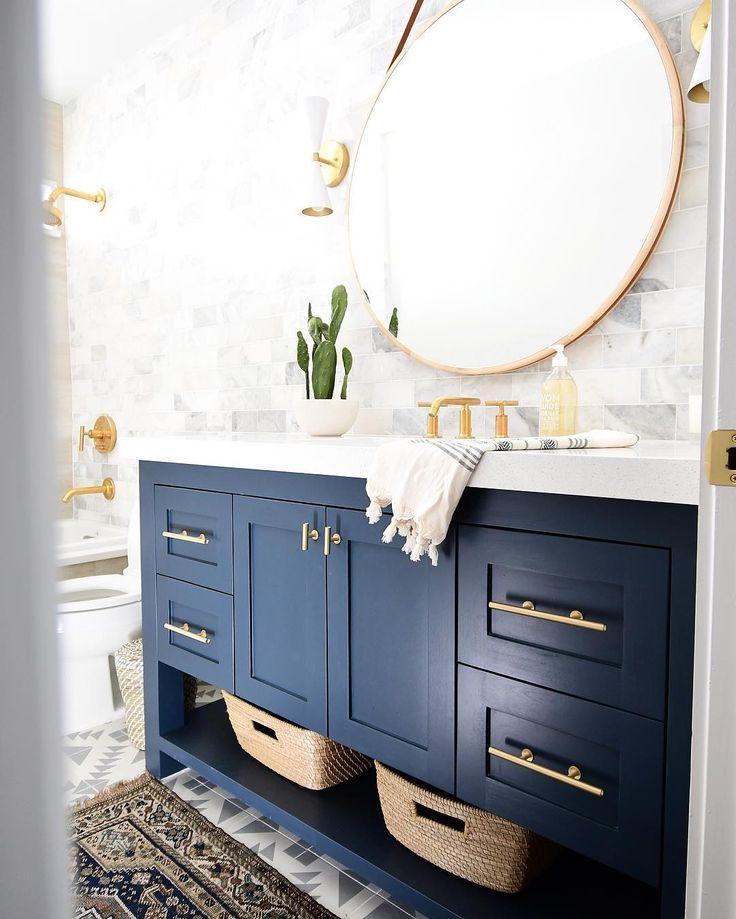 gold Bathroom Decor Blau und Gold Badezimmer ...