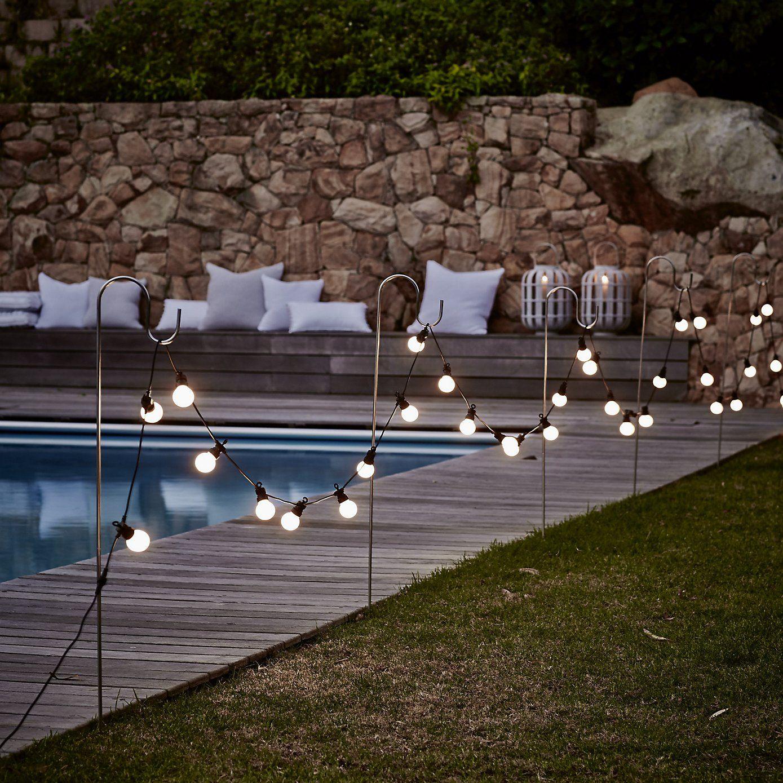 Bistro Bulb Fairy Lights 20 Bulbs Christmas The White Company Backyard Wedding Pool Garden Path Lighting Backyard Lighting
