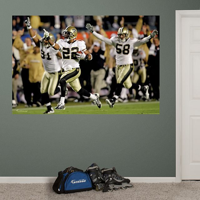 New Orleans Saints Fathead Wall Decals u0026 More | Shop NFL Fathead & Saints Super Bowl XLIV Mural Fathead Wall Graphic | New Orleans ...