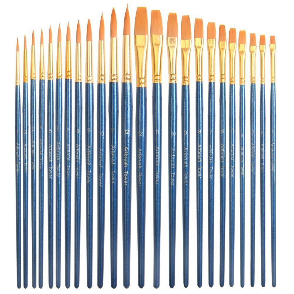 24 Piece Acrylic Paint Brushes Set Best Acrylic Brush Pen Bulk