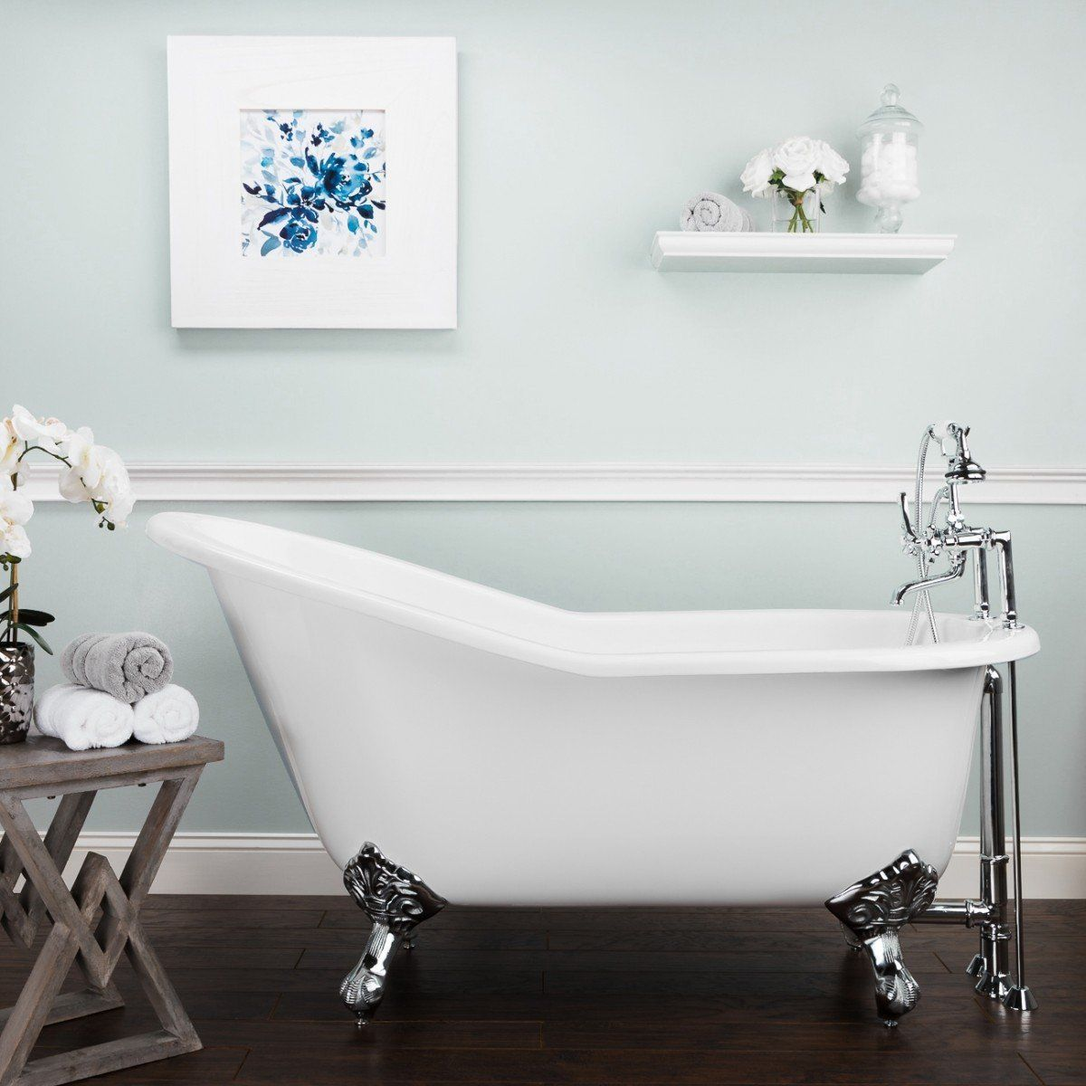 Ultra Acrylic Slipper Clawfoot Tub 51 X 26 With Oil Rubbed Bronze