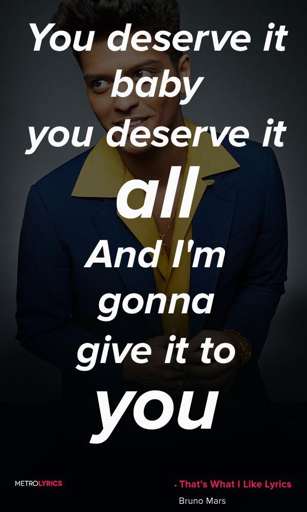 Lyric songs about sex lyrics : Bruno Mars