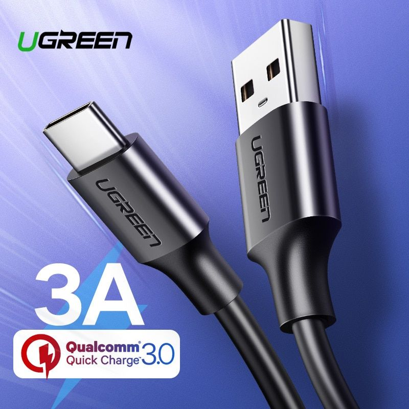 Ugreen Usb Type C Cable For Xiaomi Redmi Note 7 Mi9 Usb C Cable For Samsung S9 Fast Charging Wire Usb C Mobile Phone Charge Cord