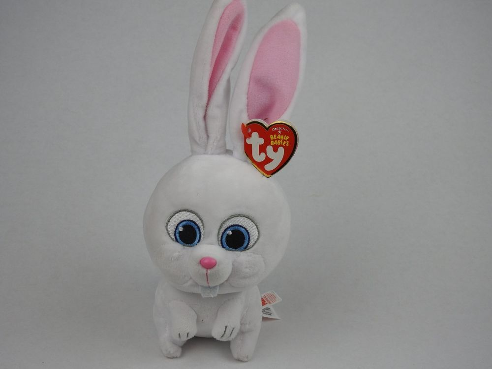 Ty Beanie Baby Snowball The Rabbit The Secret Life Of Pets Plush