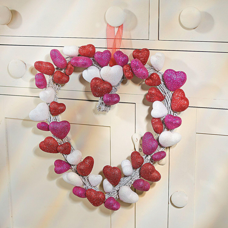 Heart Of Hearts Wreath Heart Wreath Wreaths Valentine