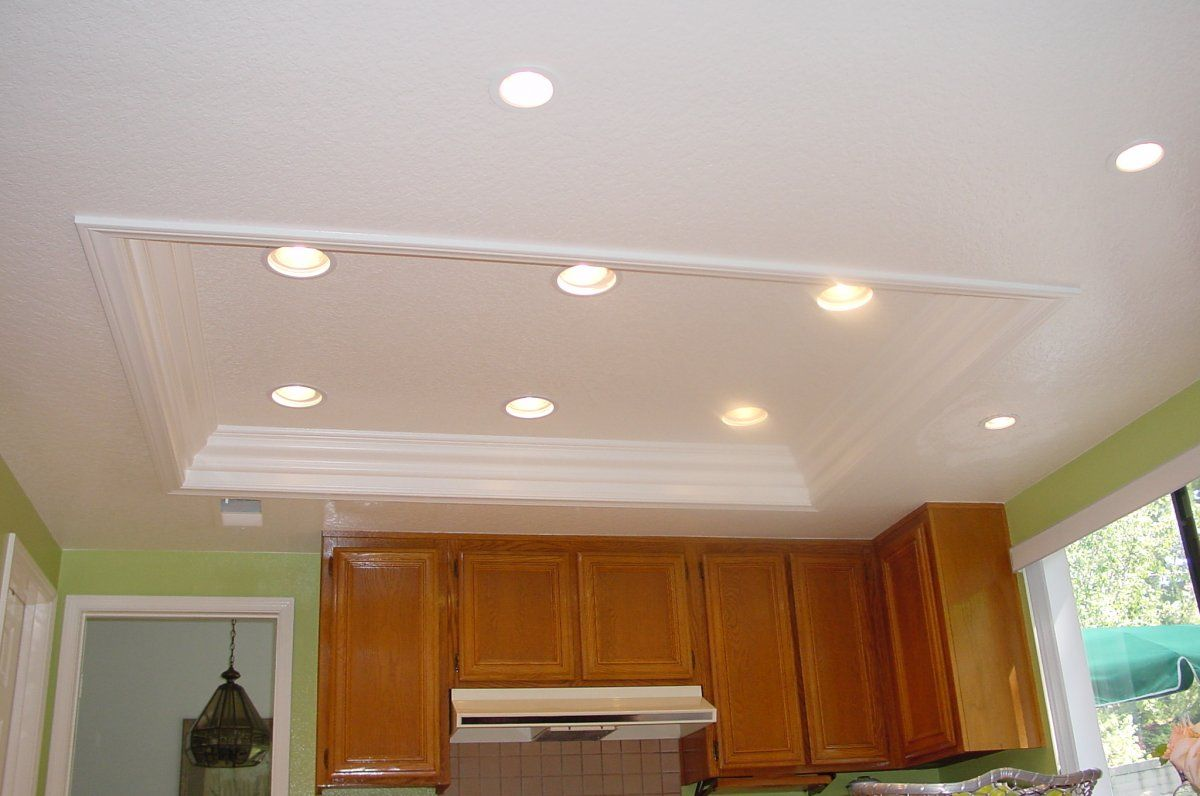 Tray Ceiling Lighting For Modern Small Kitchen Kitchen Ceiling