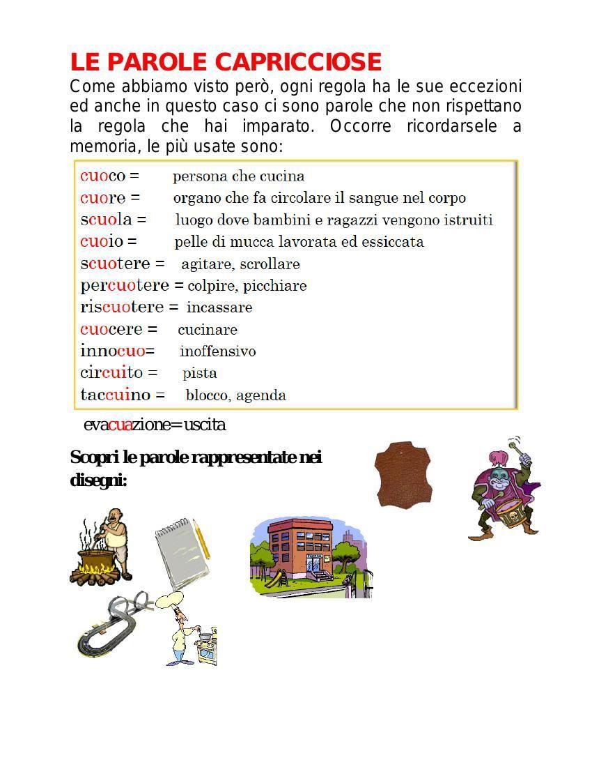 Risultati immagini per parole capricciose idee creative for Parole capricciose esercizi