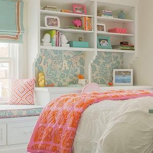 Nest Studio Girl S Rooms Tan Walls Tan Wall Color Light Tan Walls Pale Tan Walls Coral Pink Geometric Pillow Blue An Tween Bedroom Home Bedroom Design