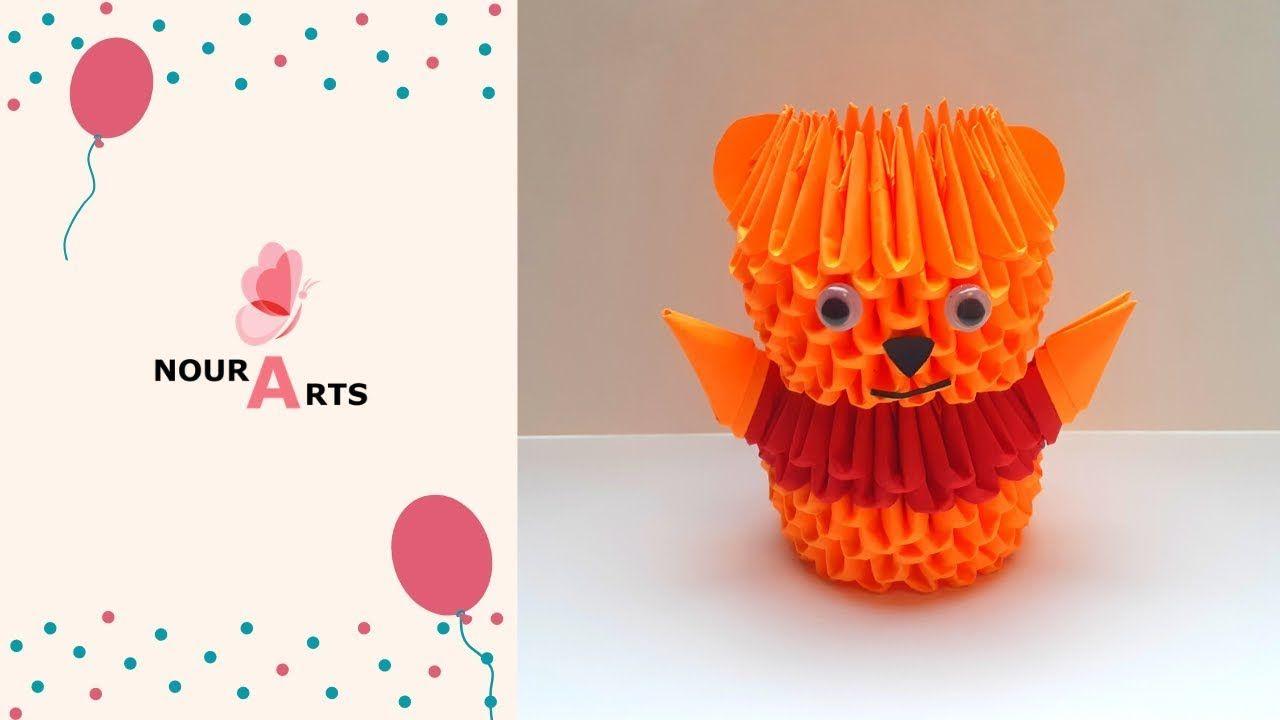 اصنع دمية مميزة على شكل ويني الدبدوب بفن طي الورق الاوريجامي ثلاثي الابعاد Fruit Pineapple