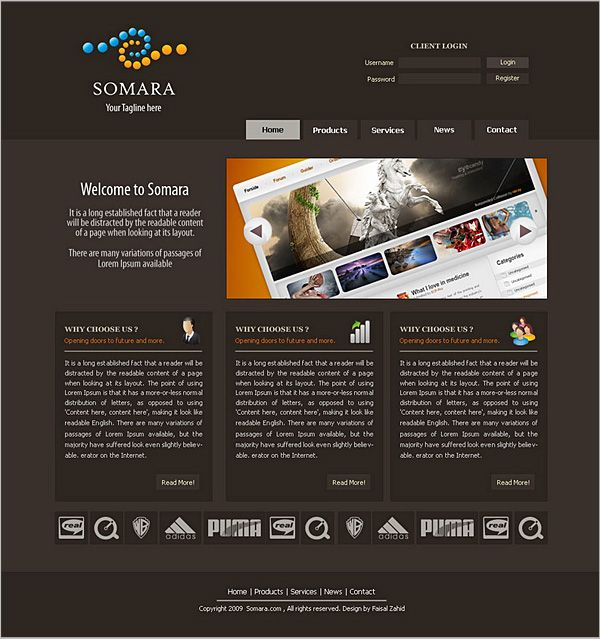 50+ High-Quality Free PSD Web Templates - DJDESIGNERLAB | web ...