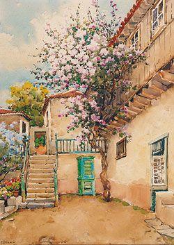 La pintura canaria en el siglo xx arte gevic gran enciclopedia virtual islas canarias - Cuadros tenerife ...