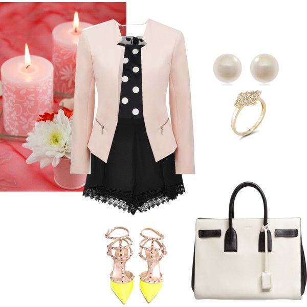 Casual date by linca-nikwigize on Polyvore featuring polyvore, fashion, style, Alice + Olivia, Forever New, Secret Charm, Valentino, Yves Saint Laurent, Dana Rebecca Designs and Links of London