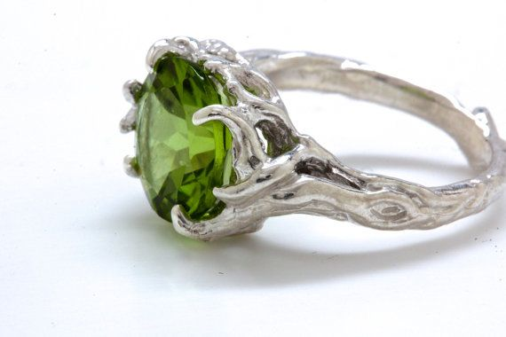 Peridot Tree Branch Ring Sterling Silver Made In Nyc Blue