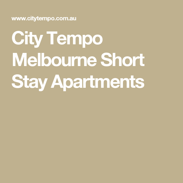 City Tempo Melbourne Short Stay Apartments